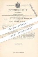 Original Patent - E. Alfred Schultze , Berlin , 1885 , Kopierrahmen Zum Fotografieren Auf Holz , Stein , Zinkplatten !! - Historische Dokumente