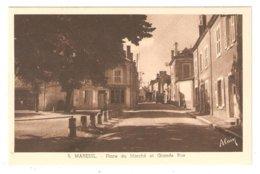 CPA 18 MAREUIL Sur ARNON - Place Du Marché Et Grande Rue - Peu Commune - Other Municipalities