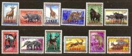 Congo 1960 Yvertn° 400-411 *** MNH  Cote 8,00 € Faune Surcharge Congo - République Du Congo (1960-64)
