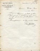 Ardennes. VRIGNE AUX BOIS. 1882  PETIT-BARBETTE Fers, Toles Et Houilles - France