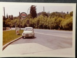 Old Original Photo ESSO STATION Fiat Fiocki Italy Diesel Gasoline Petrol DIESEL Cca 1960's - Photographica