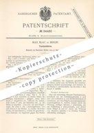 Original Patent - Max Blau , Berlin , 1885 , Taschenlaterne | Taschen - Laterne | Lampe , Taschenlampe , Licht !! - Historische Dokumente