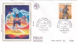 FRANCE - Enveloppe 1er Jour FDC ALADDIN WALT DISNEY 10 Novembre 1993 - FDC