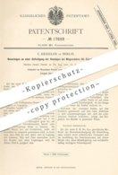Original Patent - C. Kesseler , Berlin , 1881 , Befestigung Der Bandagen An Eisenbahn - Wagenräder | Rad , Räder !! - Historische Dokumente