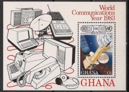 Ghana - 1983 - Bloc Feuillet BF N°Yv. 99 - Année Des Communications - Neuf Luxe ** / MNH / Postfrisch - Ghana (1957-...)