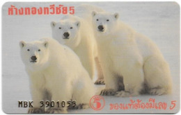 Thailand - Taweechai Jewellery Gold Shop Member Card, Polar Bears - Autres Collections