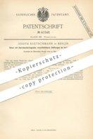 Original Patent - Joseph Kretschmann , Berlin , 1887 , Glockenheber , Heber | Toilette - Spülung , Kloset , WC , Wasser - Historische Dokumente