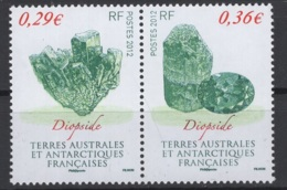 T.A.A.F. 2012 N° Y&T 602/03 **, MNH, Fraîcheur Postale. Cote Y&T 2017 : 2,70 € - Terres Australes Et Antarctiques Françaises (TAAF)