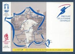 France - Carte Postale Souvenir - Jeux Olympiques - JO - Albertville - Parcours De La Flamme Olympique - 1991 Et 1992 - Olympic Games