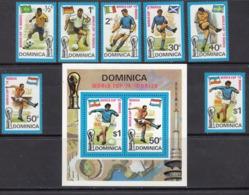 Dominica MNH Michel Nr 397/03 + Block 25 From 1974 / Catw 6.20 EUR - Dominica (1978-...)