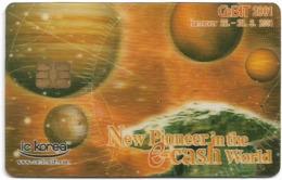 South Korea - IC Korea - Cebit 2001 Hannover Expo Demo 3D Card #1(Chip) - Corée Du Sud