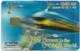 South Korea - IC Korea - Cebit 2001 Hannover Expo Demo 3D Card #2(Chip) - Corée Du Sud