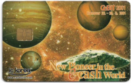 South Korea - IC Korea - Cebit 2001 Hannover Expo Demo Card #4(Chip/Magnetic) - Corée Du Sud