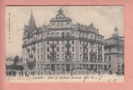 OUDE POSTKAART ZWITSERLAND - SCHWEIZ - SUISSE -  LUZERN - HOTEL ST. GOTTHARD TERMINUS - LU Lucerne