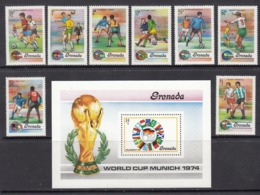 Grenada / Grenadines MNH Michel 574/81 + Block 34 From 1974 / Catw 4.00 EUR - Grenada (1974-...)