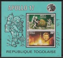 Togo - 1973 - Bloc Feuillet BF N°Yv. 68 - Apollo XVII - Neuf Luxe ** / MNH / Postfrisch - Togo (1960-...)
