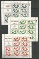 10x MALTA - MNH - Europa-CEPT - UPU - 1973 - Europa-CEPT