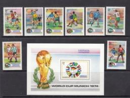 Grenada / Grenadines MNH Michel 17/24 + Block 2 From 1974 / Catw 28.00 EUR - Grenada (1974-...)