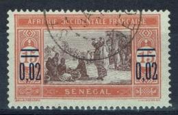 Senegal (French Colony), Overprint 0,02/15c., African Market, 1922, VFU - Senegal (1887-1944)
