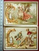 RICQLÈS CHROMO 1888 IMAGE PUB COUPLE ROMANTIQUE ALCOOL DE MENTHE VIEILLEMARD PARIS - Andere Sammlungen