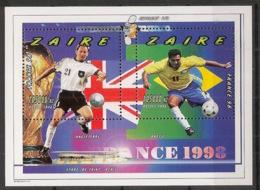 Zaire - 1997 - Bloc Feuillet BF N°Yv. 53 - Football World Cup France - Neuf Luxe ** / MNH / Postfrisch - Fußball-Weltmeisterschaft