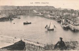 76 Dieppe Avant Port Bateau Paquebot Cpa Carte Animée Cachet 1928 - Dieppe