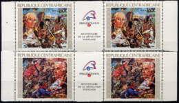 CENTRTAFRICAINE - 821/822A** - BICENTENAIRE DE LA REVOLUTION FRANCAISE - Zentralafrik. Republik