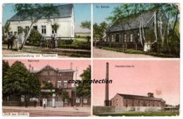 Driebitz, Kolonialwarenhandlung, Schule, Hartsteinfabrik, Stare Drzewce, Bei Fraustadt, Alte Ansichtskarte - Polen