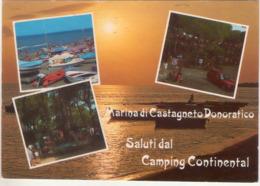 Saluti Dal Camping Continental. Marina Di Castagneto Donoratico (Li). VG. - Livorno