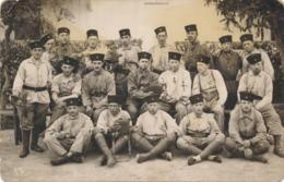 Photo-carte Campagne Du Maroc Rif Soldats 1 Er Régiment Signature Afrique Colon - Guerre, Militaire