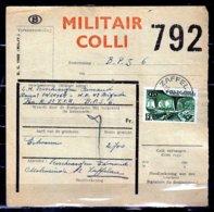 Vrachtbrief Met Stempel Zaffelare Militair Colli - Railway