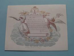 23 Aout 1844 > Prix De L'Institution ST. LOUIS > Lith. Davely BRUGES ( Porcelein / Porcelaine ) Formaat +/- 13 X 10 Cm - Visitekaartjes