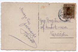 1928 YUGOSLAVIA, SLOVENIA,ROGASKA SLATINA, TPO 89 GROBELNO-ROGATEC,ILLUSTRATED POSTCARD, USED - Joegoslavië