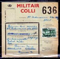 Vrachtbrief Met Stempel Kapellen Militair Colli - Railway
