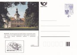 Czech Republic 1997 Postal Stationery Card: Architecture Castle Lion Eagle; BECHYNE A49/97; - Architektur