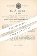Original Patent - John Unwin Askham , Sheffield , England , 1892 , Lagerung Am Mahlring Bei Walzen , Mühlen | Mühle !! - Historische Dokumente
