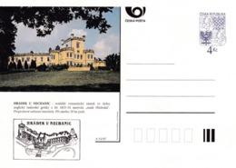 Czech Republic 1997 Postal Stationery Card: Architecture Castle Lion Eagle; HRADEK U NECHANIC A51/97; - Architektur
