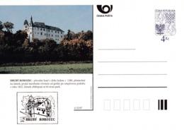 Czech Republic 1997 Postal Stationery Card: Architecture Castle Lion Eagle; HRUBY ROHOZEC A52/97; - Architektur