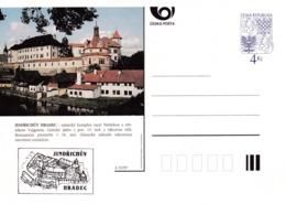 Czech Republic 1997 Postal Stationery Card: Architecture Castle Lion Eagle; JINRICHUV HRADEC A53/97; - Architektur