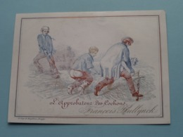 L'APPROBATEUR Des COCHONS François BULLYNCK > Lith. De Lay-De Muyttere ( Porcelein / Porcelaine ) Formaat +/- 14 X 10 Cm - Visitenkarten