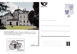Czech Republic 1997 Postal Stationery Card: Architecture Castle Lion Eagle; KARLOVA KORUNA A54/97; - Architektur
