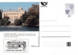 Czech Republic 1997 Postal Stationery Card: Architecture Castle Lion Eagle; KLASTEREC NAD OHRI A55/97; - Architektur