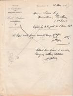 Facture 1931 / Paul LALEVEE / Taillanderie Acier Fondu Supérieur / 88 Géradmer Vosges - France