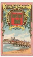Chromo Pub ROYAL MOKA - Bourgeois & Labre, Cambrai Proville (Nord) Armes Des Villes De France - NEVERS - Vue De Nevers - Tea & Coffee Manufacturers