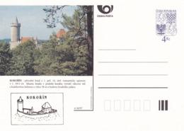 Czech Republic 1997 Postal Stationery Card: Architecture Castle Lion Eagle; KOKORIN A56/97; - Architektur