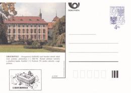 Czech Republic 1997 Postal Stationery Card: Architecture Castle Lion Eagle; LIBOCHOVICE A57/97; - Architektur