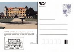 Czech Republic 1997 Postal Stationery Card: Architecture Castle Lion Eagle; MILOTICE A59/97; - Architektur