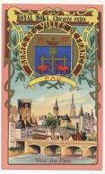 Chromo Pub ROYAL MOKA - Bourgeois & Labre, Cambrai Proville (Nord) Armes Des Villes De France - PAU - Tea & Coffee Manufacturers