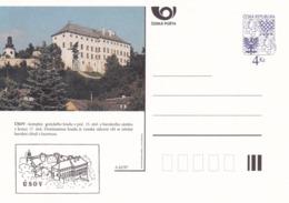 Czech Republic 1997 Postal Stationery Card: Architecture Castle Lion Eagle; USOV A62/97; - Architektur