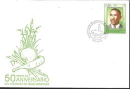 L) 1998 CARIBE, 50th ANNIVERSARY OF THE MURDER OF JESUS MENENDEZ, GREEN, 15C, FDC - FDC